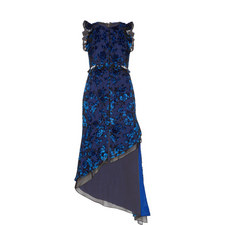 Devore Floral Dress