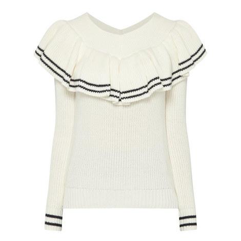 Striped Off-Shoulder Sweater, ${color}