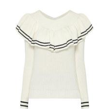 Striped Off-Shoulder Sweater