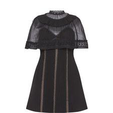 Mesh Cape Mini Dress