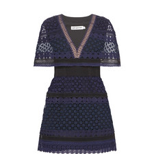 Crochet Cape Mini Dress
