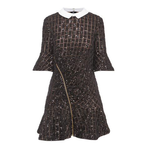 Sequin Embroidery Dress, ${color}