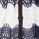 Guipure Frill Mini Dress, ${color}