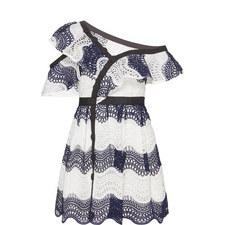Guipure Frill Mini Dress