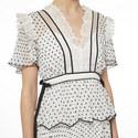 Plumetis Frill Mini Dress, ${color}