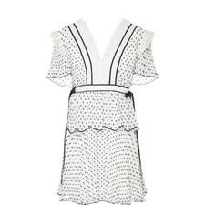 Plumetis Frill Mini Dress