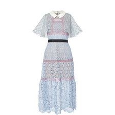 Floral Cape Midi Dress