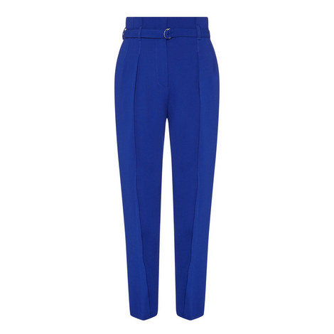 High-Waisted Tailored Trousers, ${color}