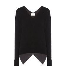Draped Open Back Sweater