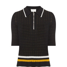 Short Sleeve Polo Knit Sweater