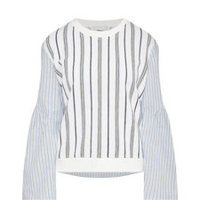 Flared Sleeve Striped Top