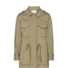 Striped Military Jacket