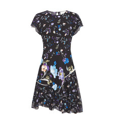Short-Sleeved Flower Dress