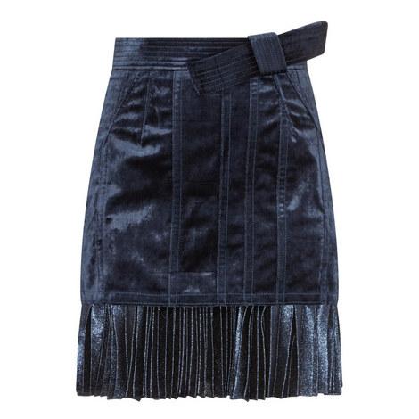 Velvet Pleated Skirt, ${color}
