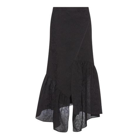 Asymmetric Ruffle Skirt, ${color}
