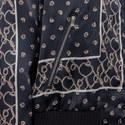 Patterned Silk Bomber Jacket, ${color}