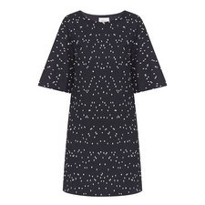 Flare Sleeve Bouclé Dress