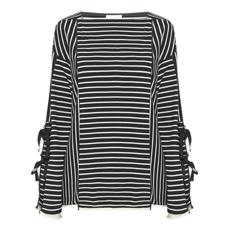 Striped Tie-Back Top, ${color}