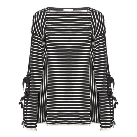 Striped Tie-Back Top, ${color}