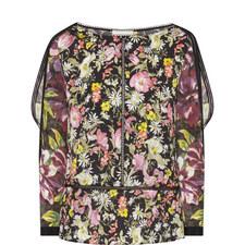 Floral Print Cold Shoulder Top