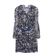 Brushstroke Print Dress
