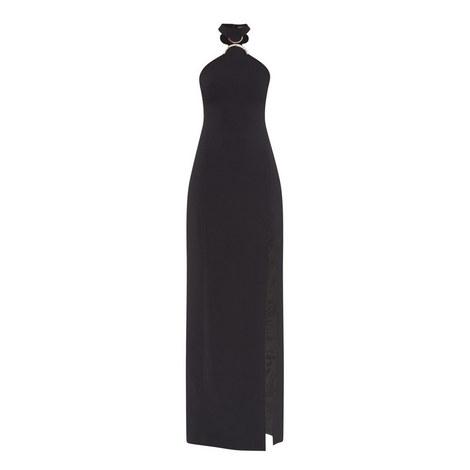 Longline Halter Neck Gown, ${color}