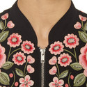 Floral Embroidered Bomber Jacket, ${color}