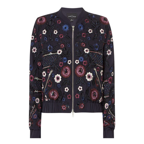 Embroidery Folk Bomber Jacket, ${color}