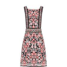 Prairie Embroidery Bib Dress