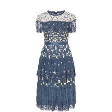 Tiered Anglais Dress