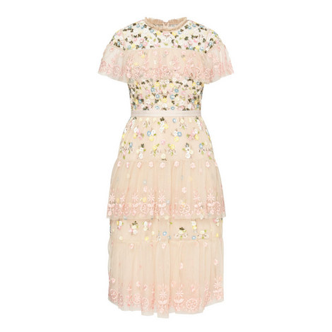 Tiered Anglais Dress, ${color}