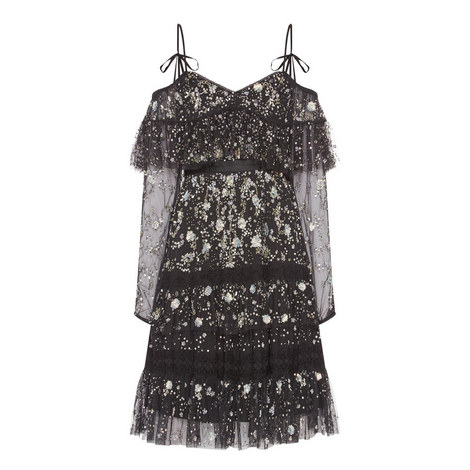 Supernova Sequinned Tulle Dress, ${color}