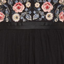 Embroidered Bodice Tulle Dress, ${color}