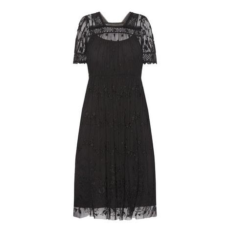 Floral Lace Midi Dress, ${color}