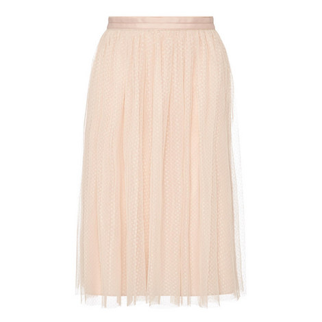 Dotted Tulle Midi Skirt, ${color}