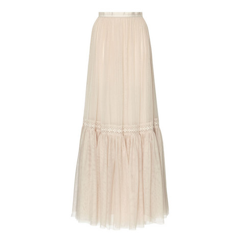 Lace Tulle Maxi Skirt, ${color}