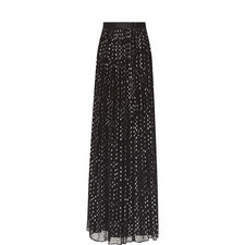 Lurex Embroidered Maxi Skirt