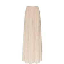 Lurex Embroidered Maxi Skirt
