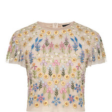 Flowerbed Embroidered Top