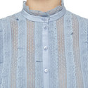 Ruffled Long Sleeve Blouse, ${color}