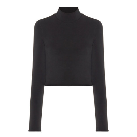 Heritage Funnel Neck Jersey Top, ${color}