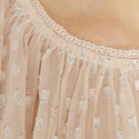 Lurex Chiffon Cold-Shoulder Top, ${color}