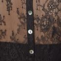 Buttoned Back Lace Shirt, ${color}