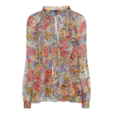 Watercolour Floral Blouse, ${color}