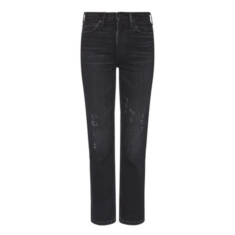 High-Rise Straight Fit Jeans, ${color}