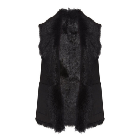Reversible Leather Gilet, ${color}