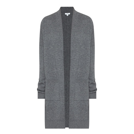 Longline Wool Mix Cardigan, ${color}