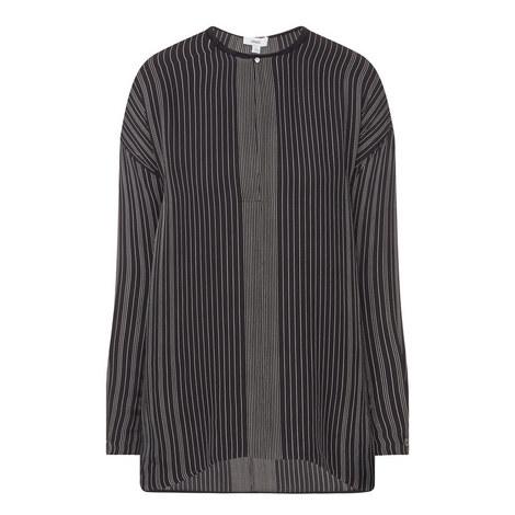 Long Sleeve Silk Top, ${color}