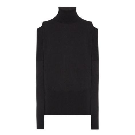 Cold-Shoulder Knitted Top, ${color}