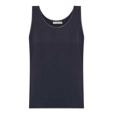 Raw Edge Satin Tank Top, ${color}
